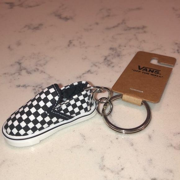 Vans Checkered Slip Ons Keychain NWT